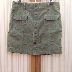 Green Corduroy Skirt by Tommy Hilfiger